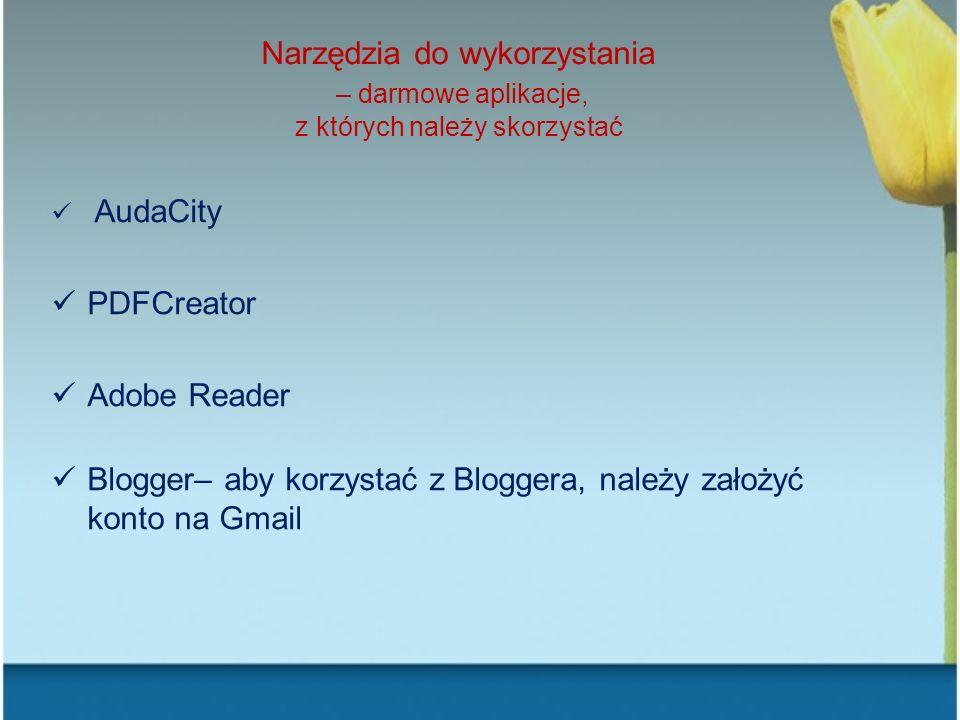 Blogger– aby korzystać z Bloggera, należy założyć konto na Gmail