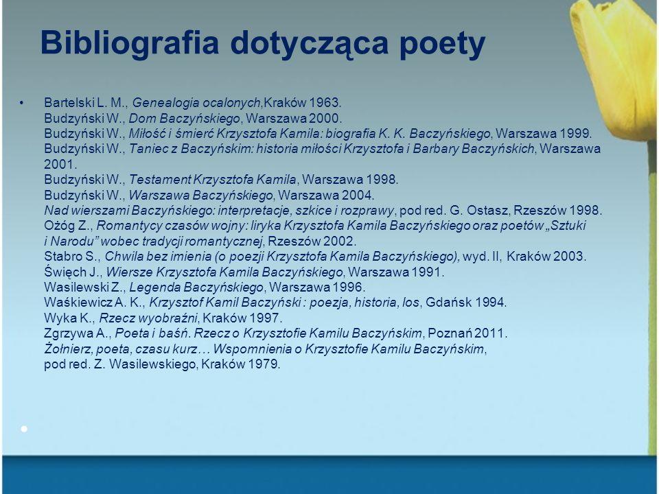 Bibliografia dotycząca poety