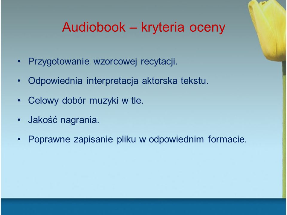 Audiobook – kryteria oceny