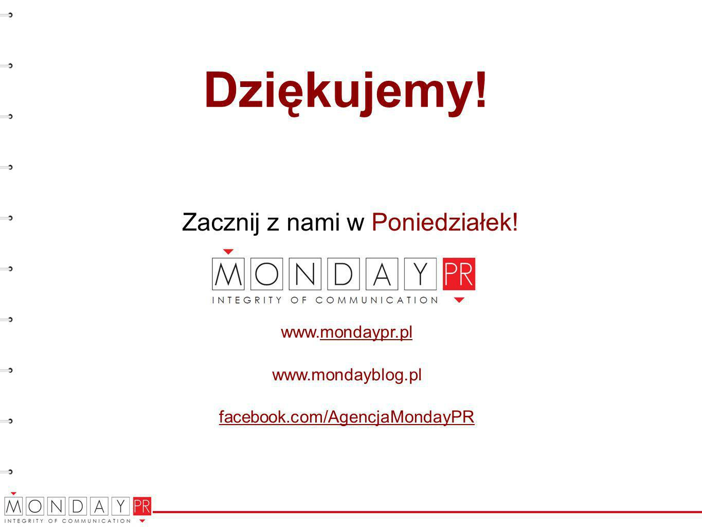 Dziękujemy! Zacznij z nami w Poniedziałek! www.mondaypr.pl