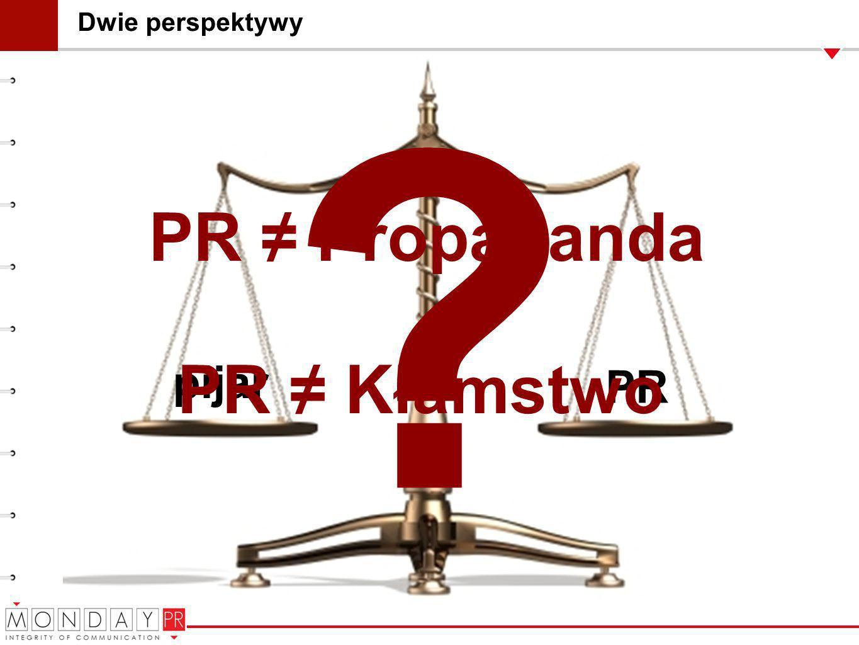PR ≠ Propaganda PR ≠ Kłamstwo pijar PR Dwie perspektywy