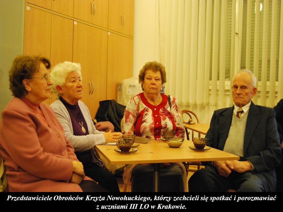 z uczniami III LO w Krakowie.