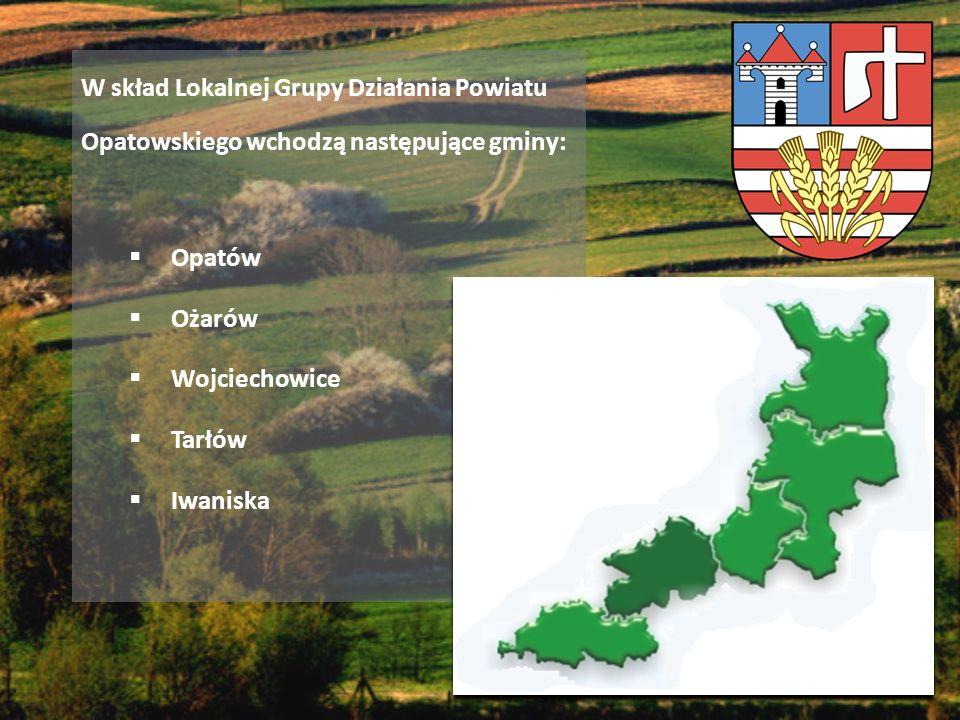 W skład Lokalnej Grupy Działania Powiatu Opatowskiego wchodzą następujące gminy: