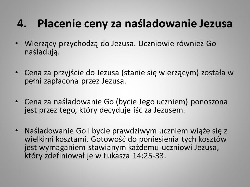 Płacenie ceny za naśladowanie Jezusa