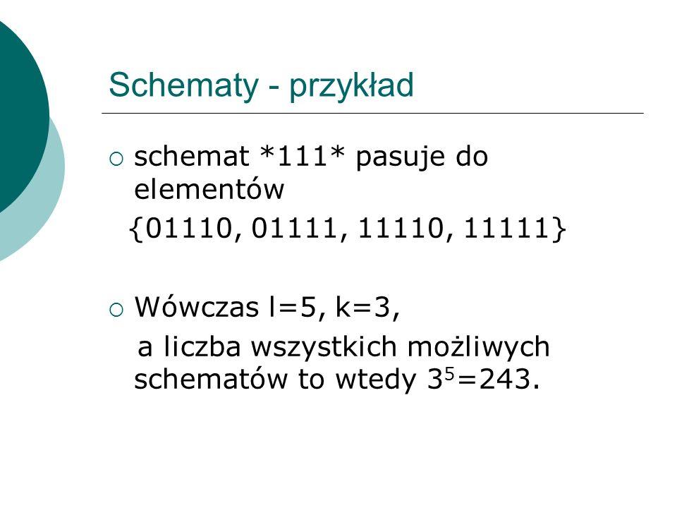 Schematy - przykład schemat *111* pasuje do elementów