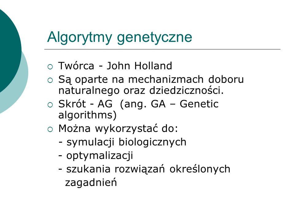 Algorytmy genetyczne Twórca - John Holland