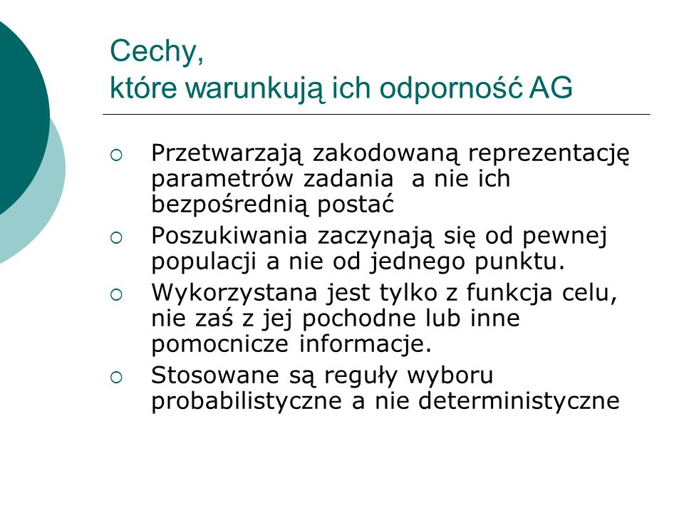 Cechy, które warunkują ich odporność AG