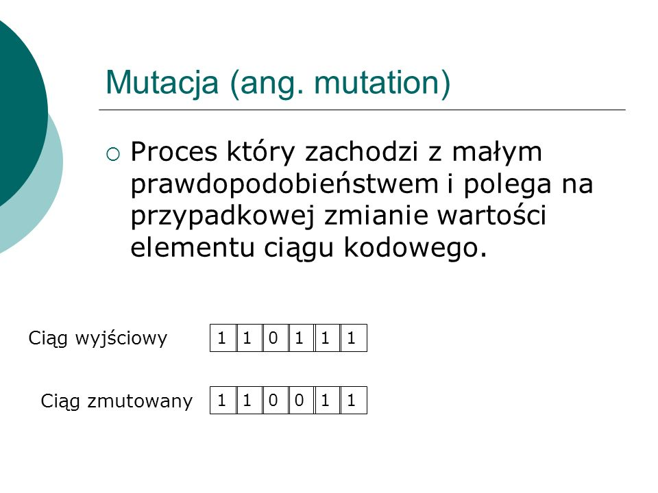 Mutacja (ang. mutation)