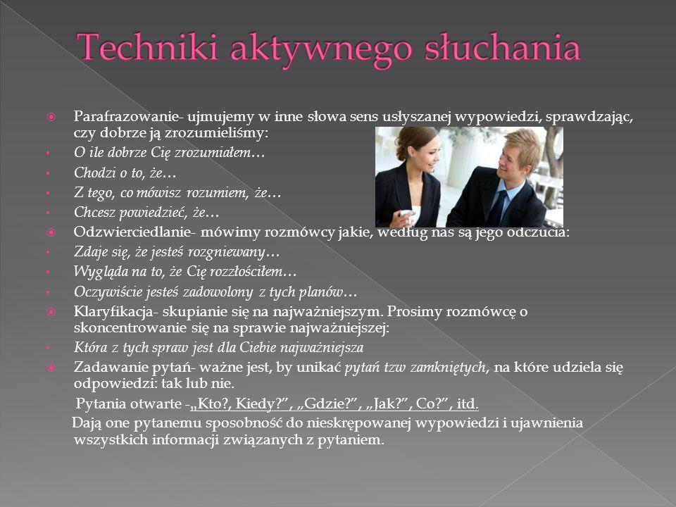 Techniki aktywnego słuchania