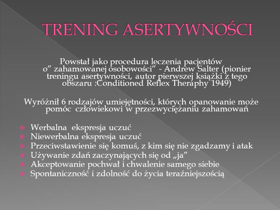 TRENING ASERTYWNOŚCI