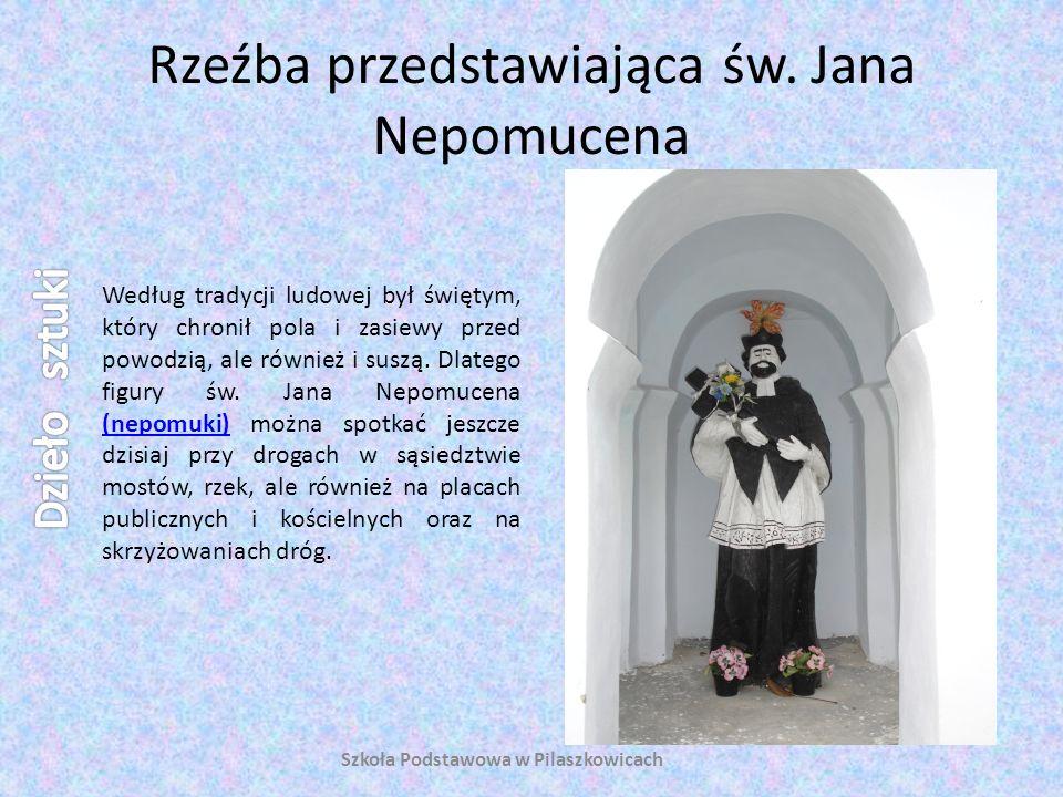 Rzeźba przedstawiająca św. Jana Nepomucena