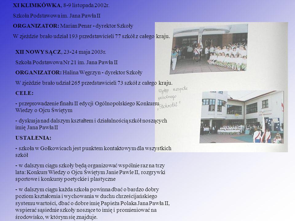 XI KLIMKÓWKA, 8-9 listopada 2002r.