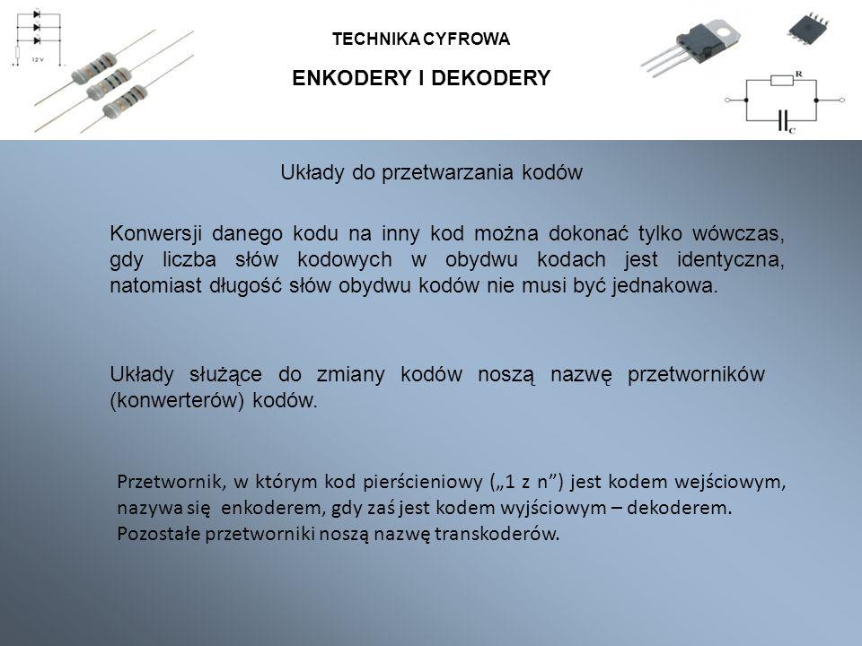 Układy do przetwarzania kodów