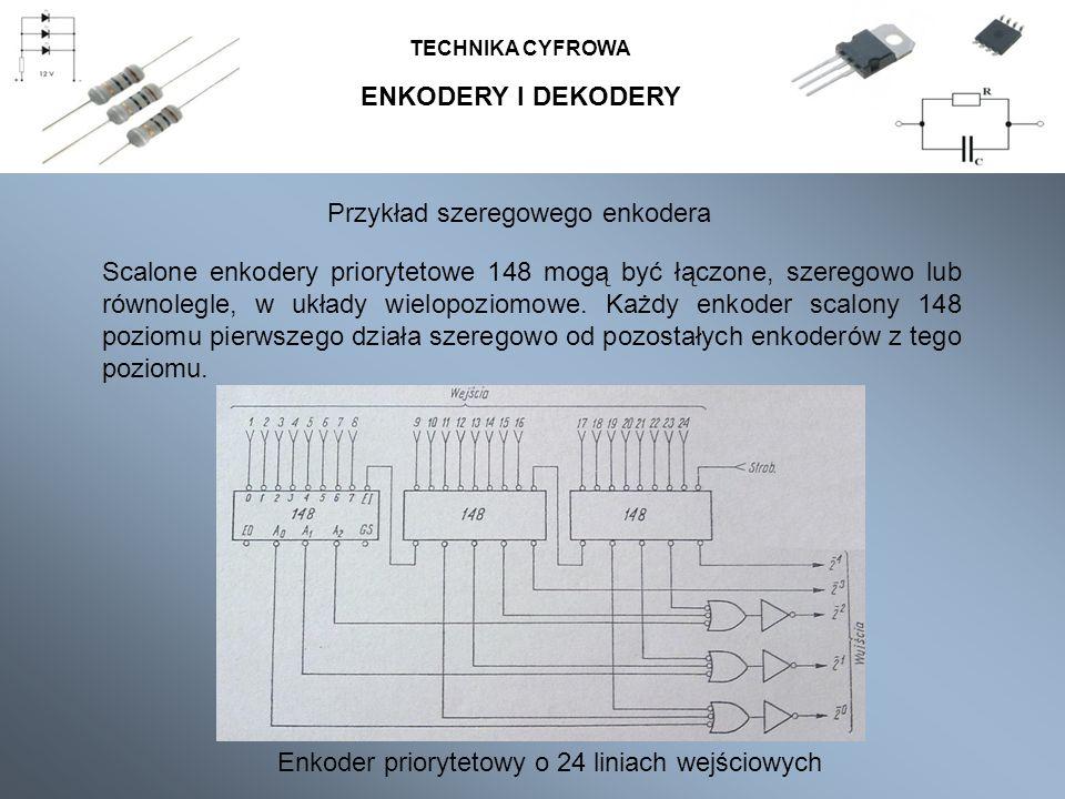 Przykład szeregowego enkodera