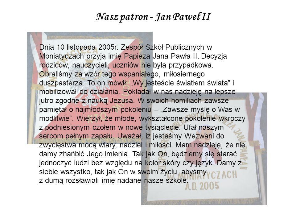 Nasz patron - Jan Paweł II
