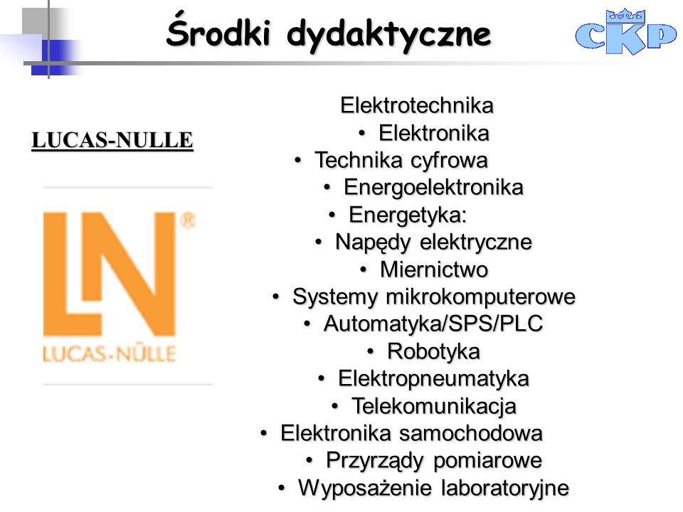 Środki dydaktyczne Elektrotechnika Elektronika Technika cyfrowa