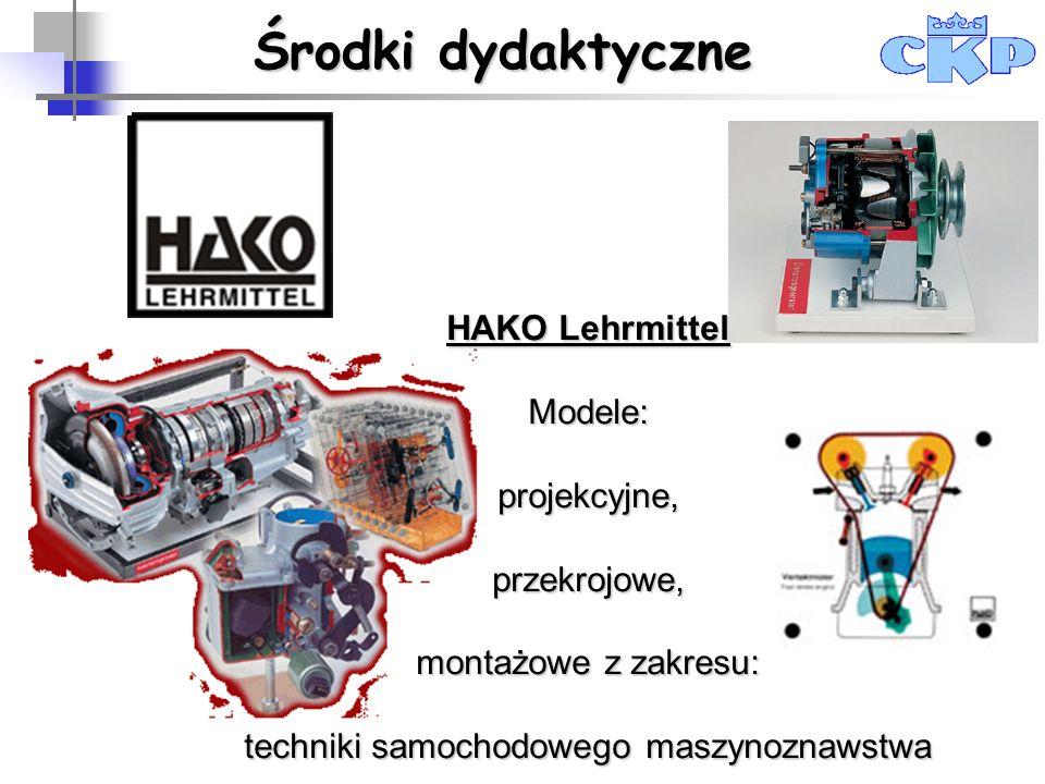 Środki dydaktyczne HAKO Lehrmittel Modele: projekcyjne, przekrojowe,
