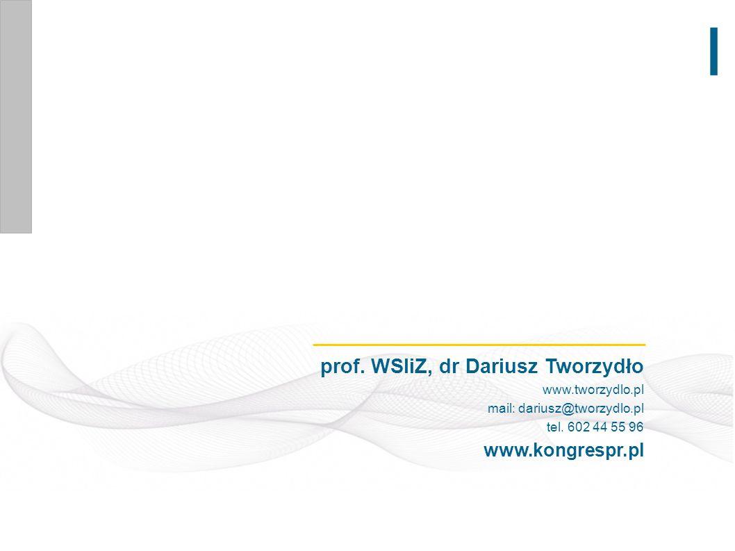 prof. WSIiZ, dr Dariusz Tworzydło