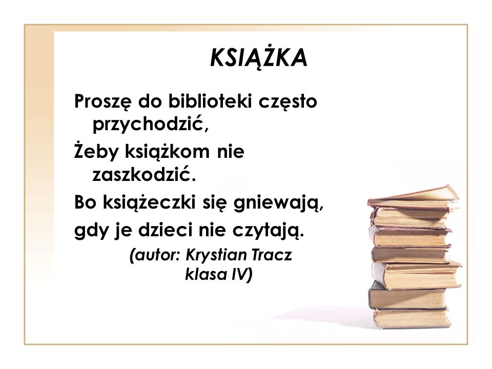 (autor: Krystian Tracz klasa IV)