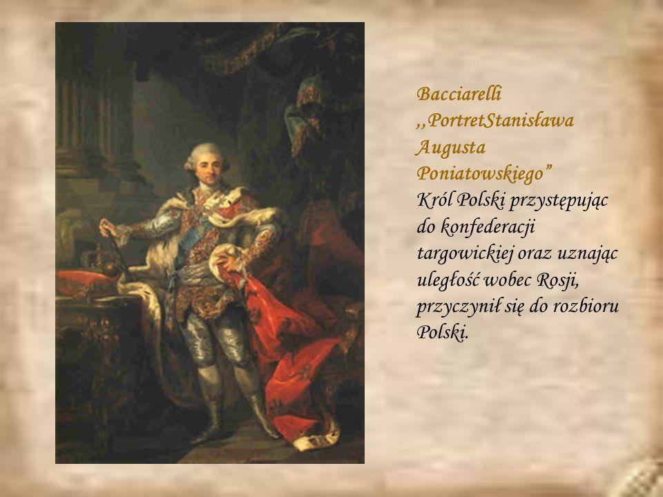 Bacciarelli ,,PortretStanisława Augusta Poniatowskiego