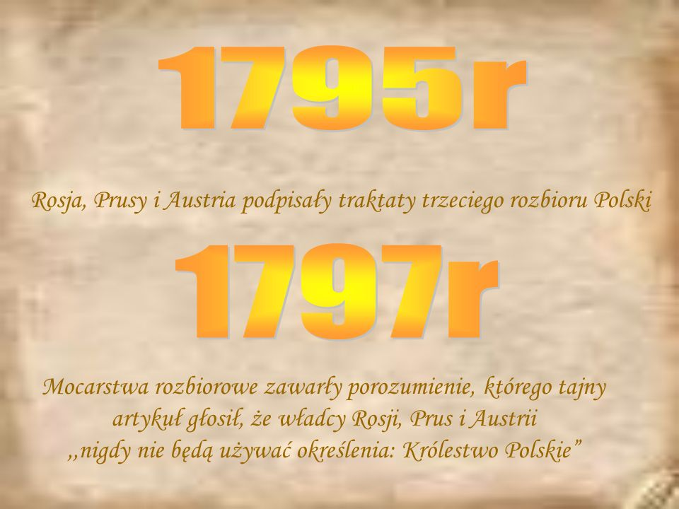 ,,nigdy nie będą używać określenia: Królestwo Polskie