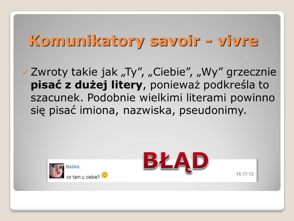 Komunikatory savoir - vivre