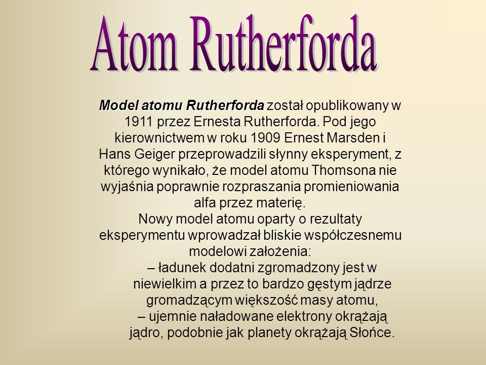 Atom Rutherforda