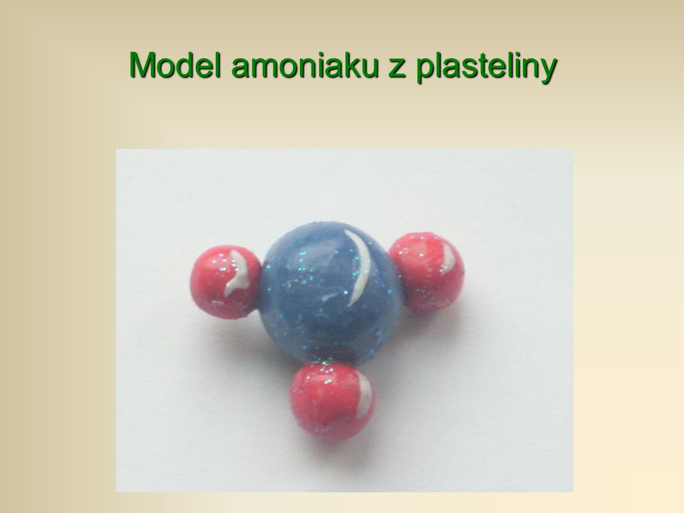 Model amoniaku z plasteliny