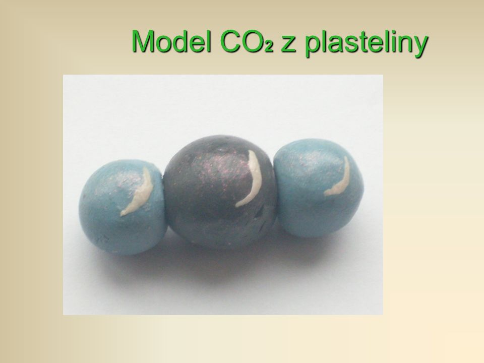 Model CO2 z plasteliny