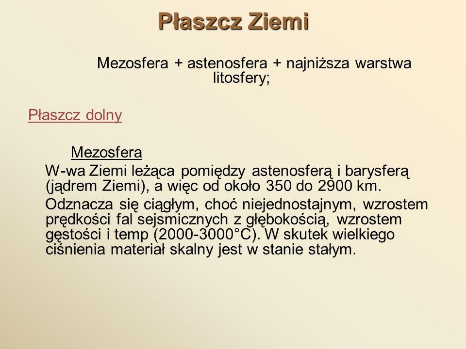 Mezosfera + astenosfera + najniższa warstwa litosfery;