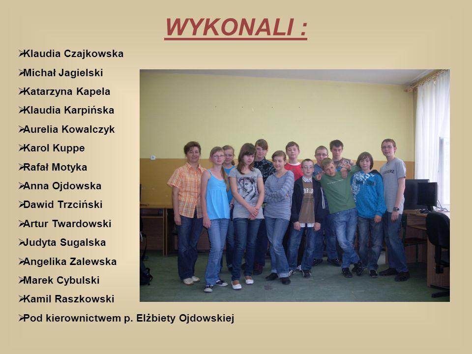 WYKONALI : Klaudia Czajkowska Michał Jagielski Katarzyna Kapela