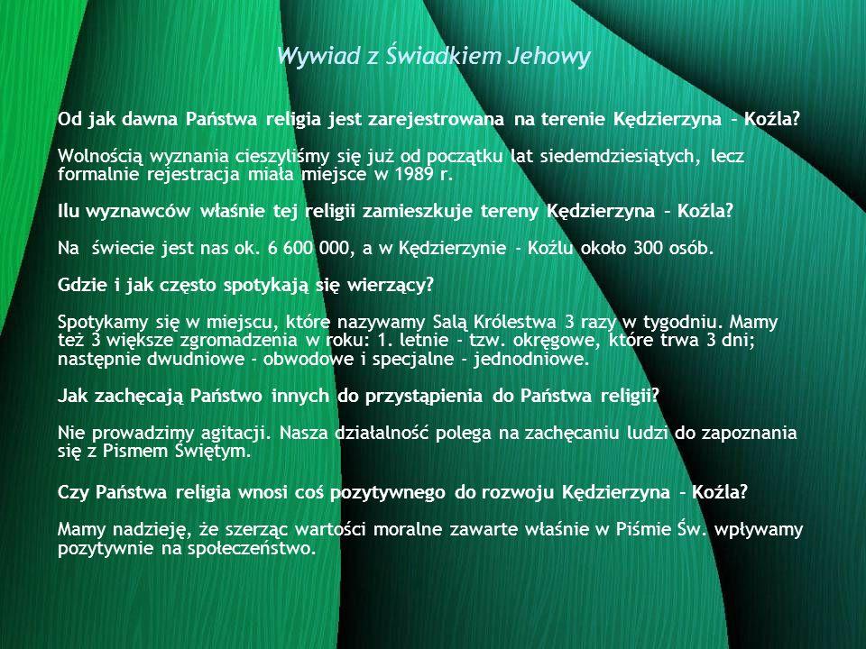 Wywiad z Świadkiem Jehowy