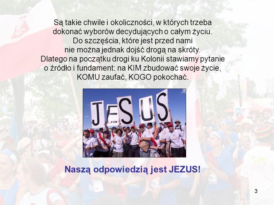Naszą odpowiedzią jest JEZUS!