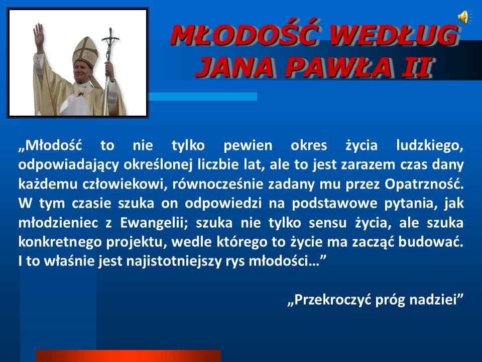 MŁODOŚĆ WEDŁUG JANA PAWŁA II
