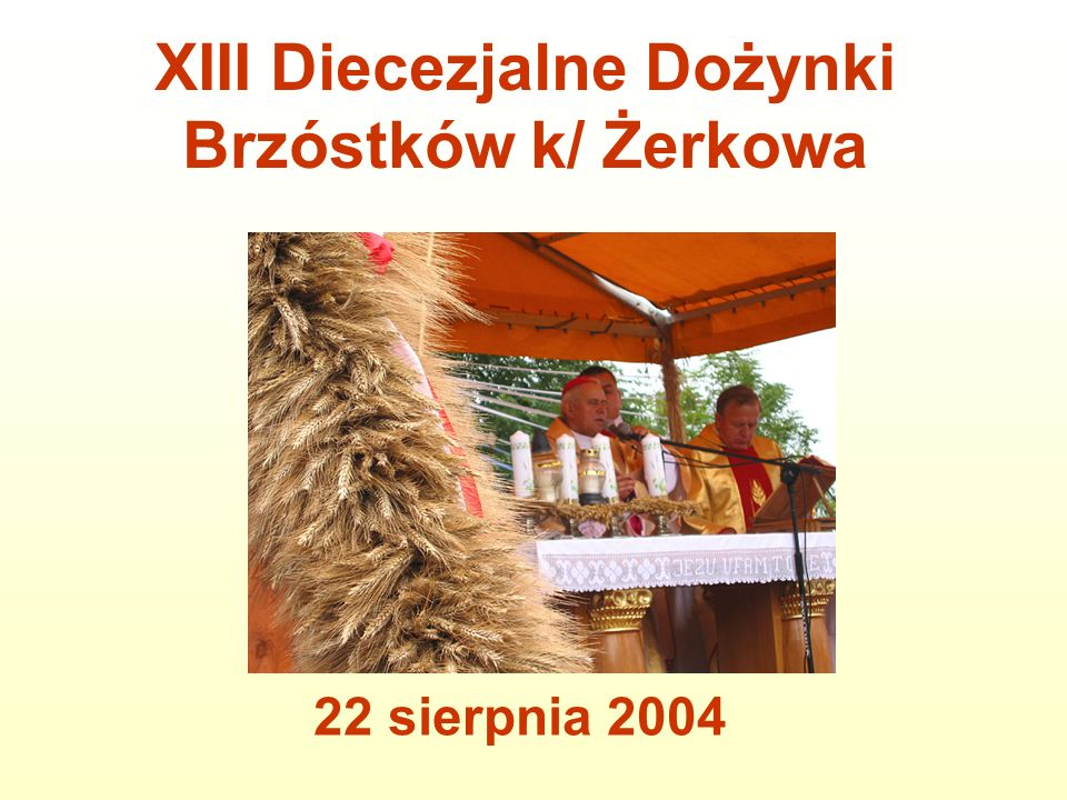 XIII Diecezjalne Dożynki Brzóstków k/ Żerkowa