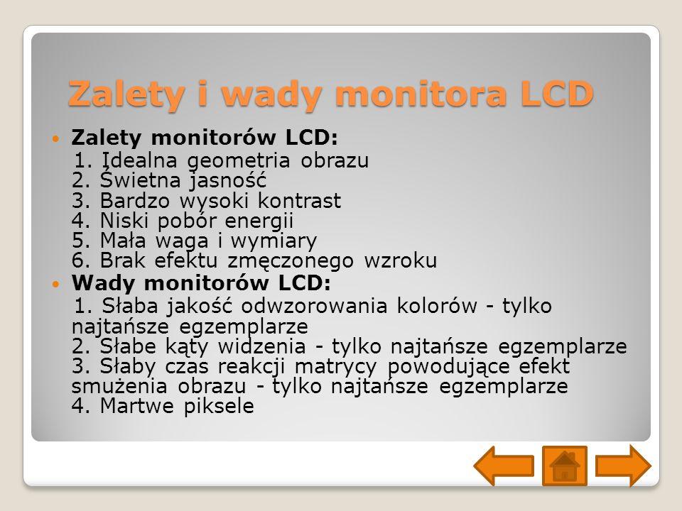 Zalety i wady monitora LCD