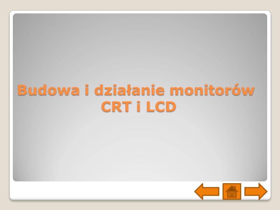 Budowa i działanie monitorów CRT i LCD