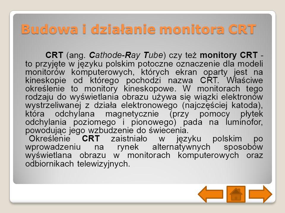 Budowa i działanie monitora CRT