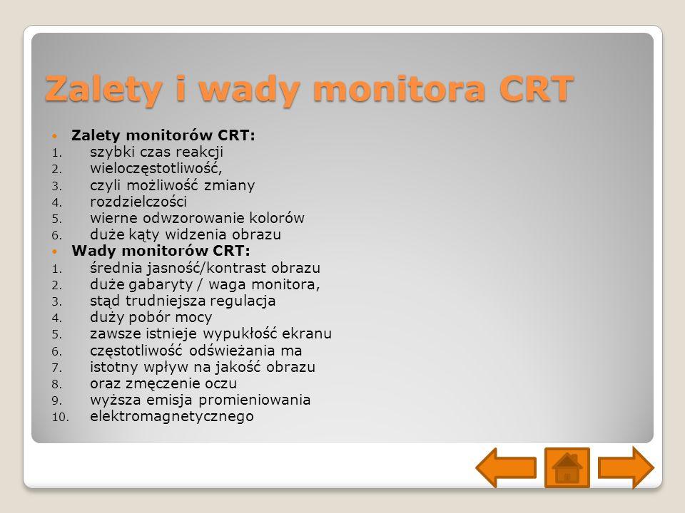 Zalety i wady monitora CRT