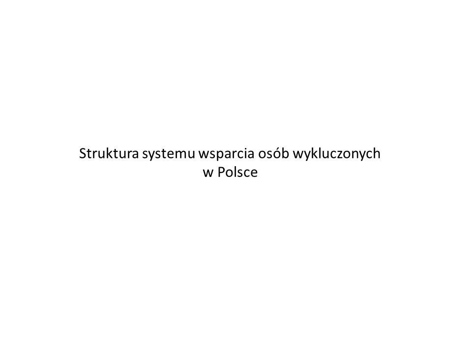 Struktura systemu wsparcia osób wykluczonych w Polsce