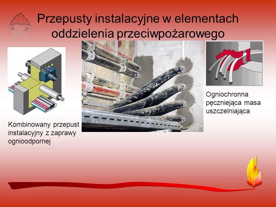 Przepusty instalacyjne w elementach oddzielenia przeciwpożarowego