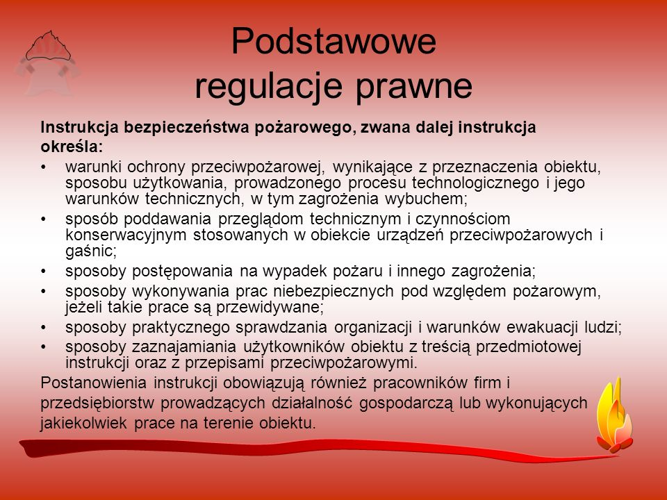 Podstawowe regulacje prawne