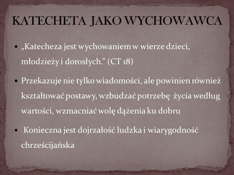 KATECHETA JAKO WYCHOWAWCA