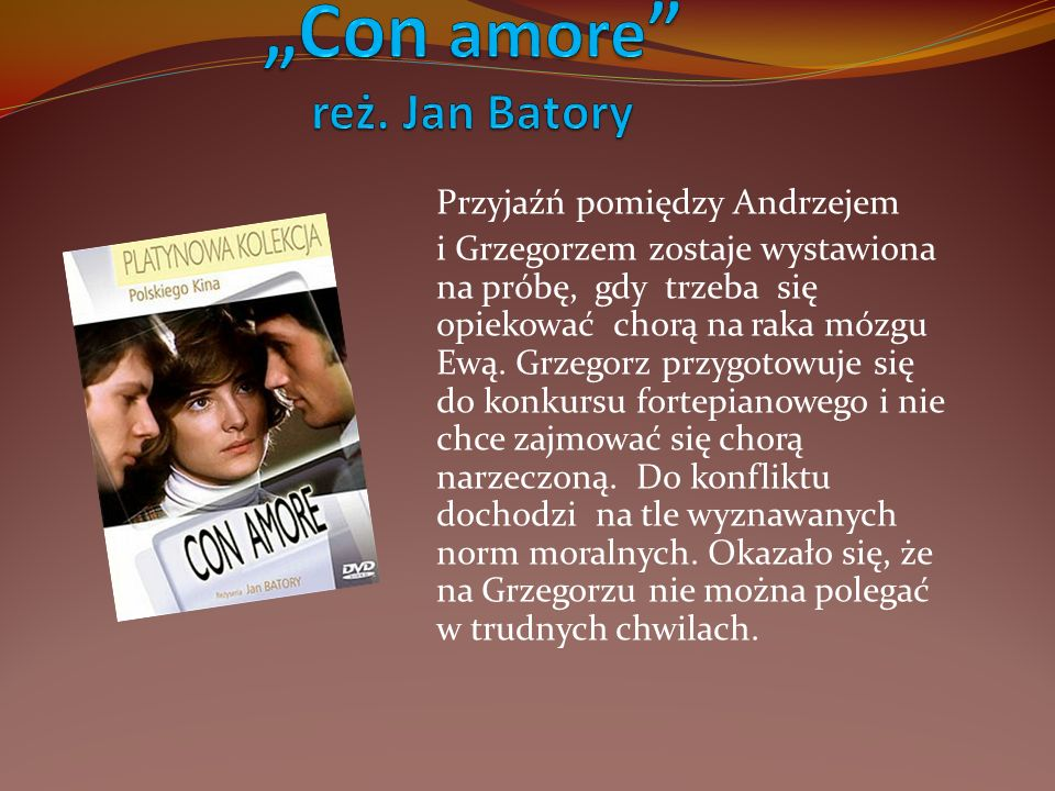 """Con amore reż. Jan Batory"