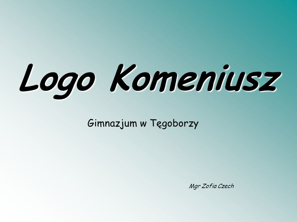 Logo Komeniusz Gimnazjum w Tęgoborzy Mgr Zofia Czech