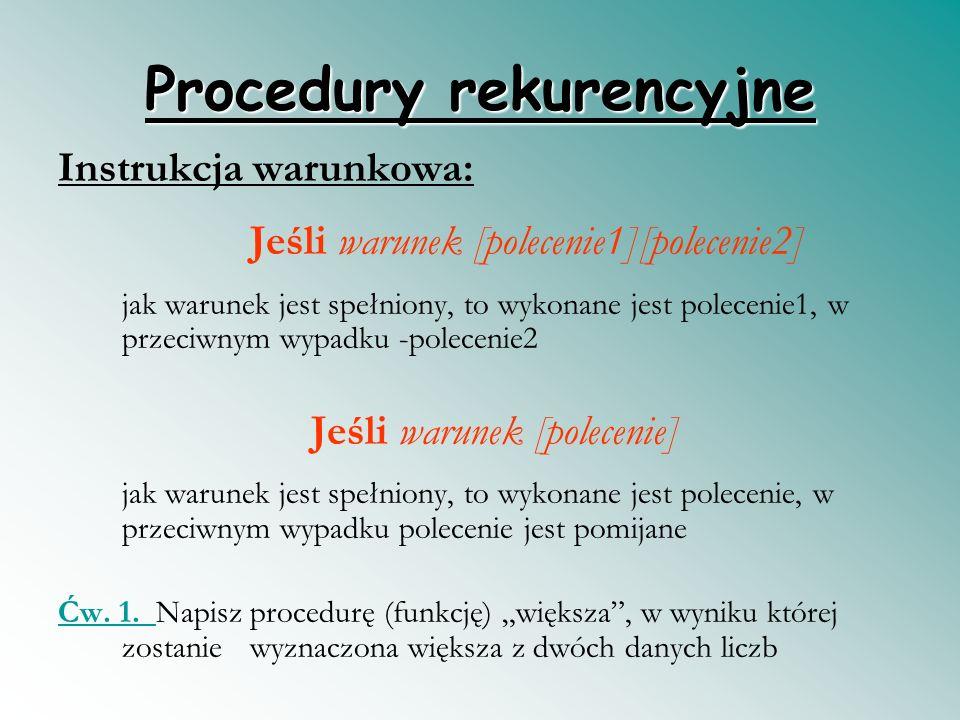 Procedury rekurencyjne