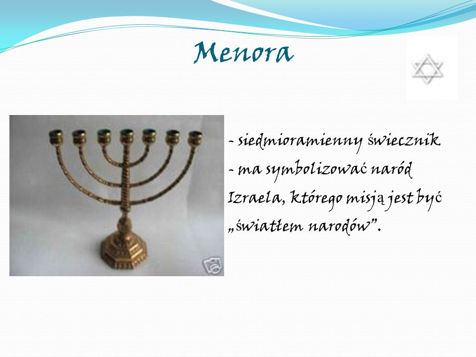 Menora - siedmioramienny świecznik