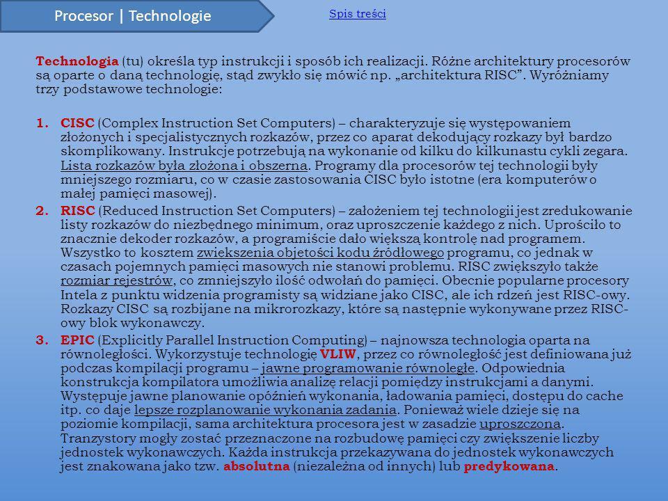 Procesor | Technologie