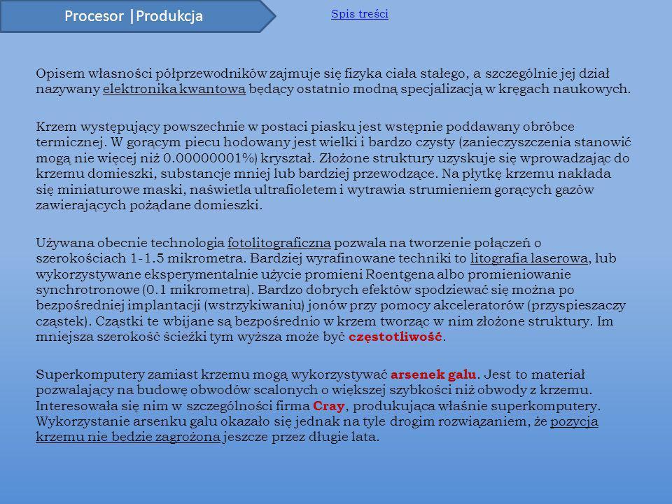 Procesor |Produkcja Spis treści.