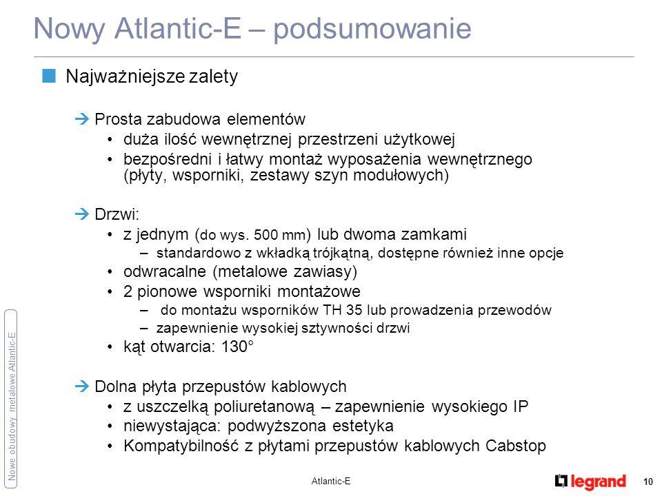 Nowy Atlantic-E – podsumowanie